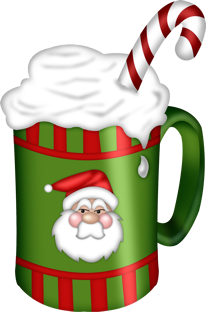 Christmas clipart cup png black and white stock Pin by Cathy Place on candy, food & kitchen clipart   Christmas ... png black and white stock