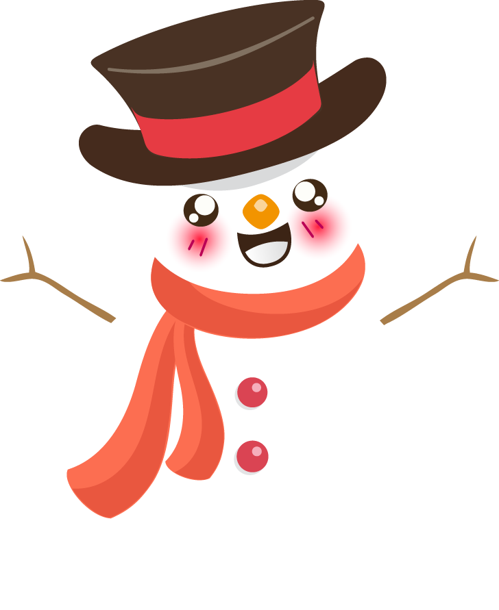 Cute christmas clipart free banner black and white library Snowman free to use cliparts 4 - Clipartix banner black and white library