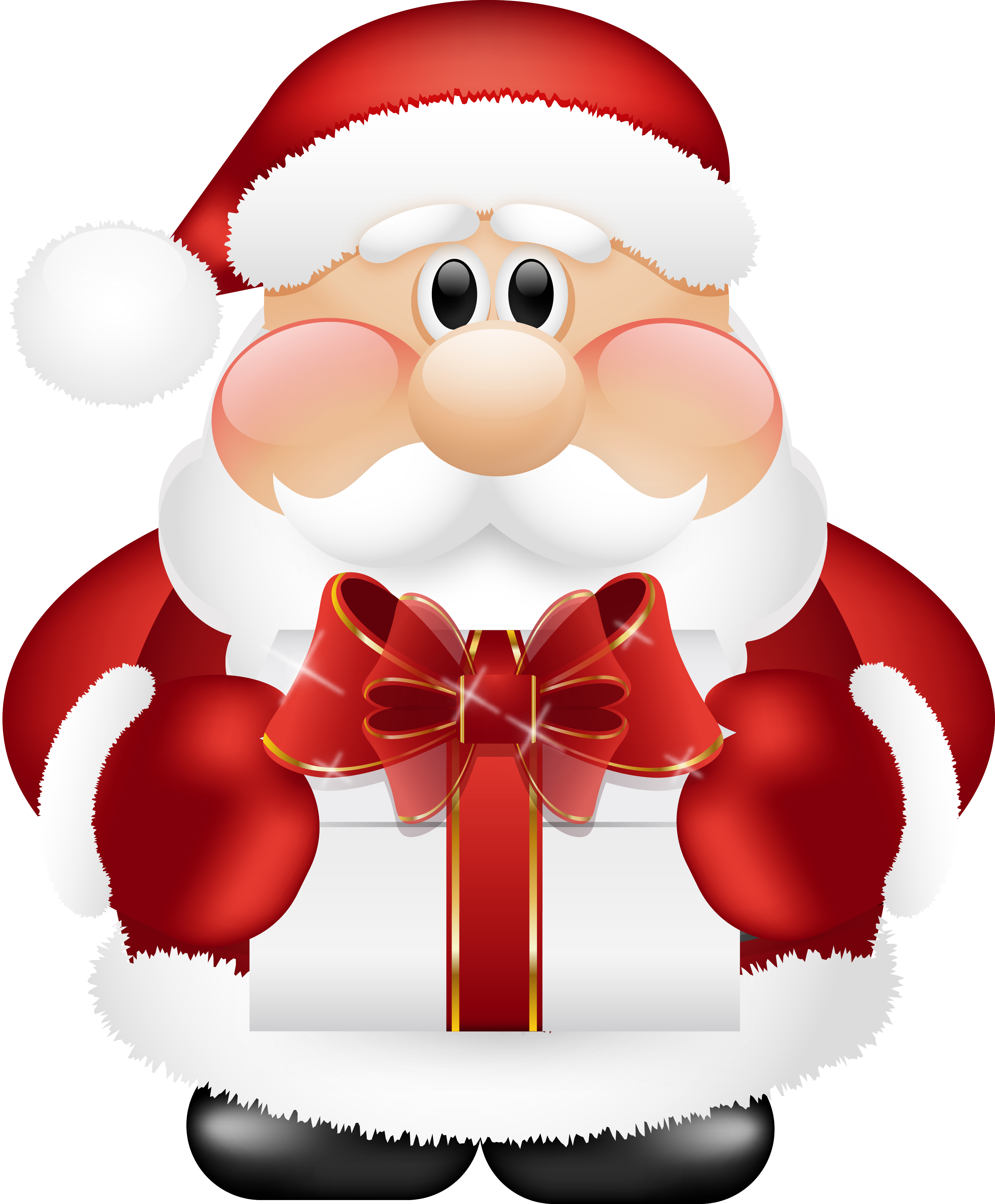 Kawaii car clipart banner Cute Santa Claus with Gift PNG Clipart | Gallery Yopriceville ... banner