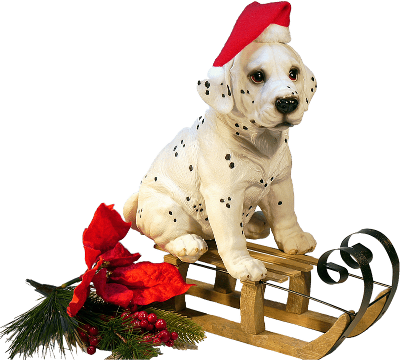 Christmas dog clipart free picture royalty free Christmas Dog on A Sledge transparent PNG - StickPNG picture royalty free