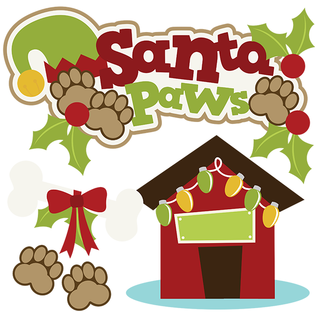 Santa dog clipart picture transparent Santa Paws SVG picture transparent