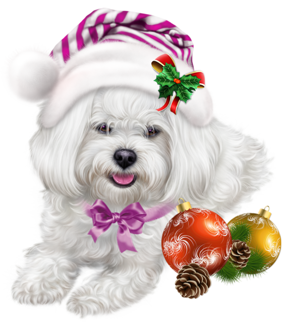Christmas clipart dog image black and white library chiens,dog,puppies, | Christmas and New Year's Clip Art | Pinterest ... image black and white library