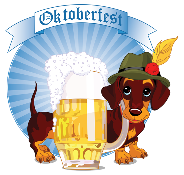 Christmas clipart dog banner free stock Oktoberfest Decor with Beer and Dog PNG Clipart Image | Gallery ... banner free stock