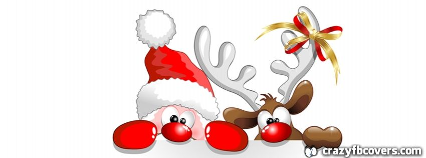 Christmas clipart facebook covers picture transparent library Santa and Rudolph Christmas Facebook Cover - Facebook Timeline Cover ... picture transparent library