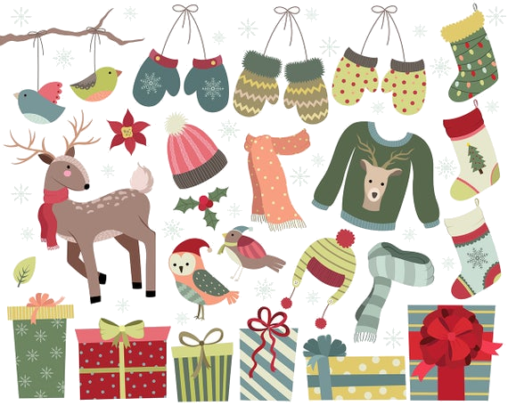 Christmas clipart files clip library download Holiday Printables Diy Cards Cute Christmas Clipart Set Of Dpi ... clip library download