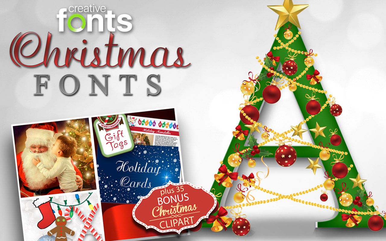 Christmas clipart fonts clip art freeuse library Christmas Fonts And Holiday Clipart In One Amazing Bundle clip art freeuse library