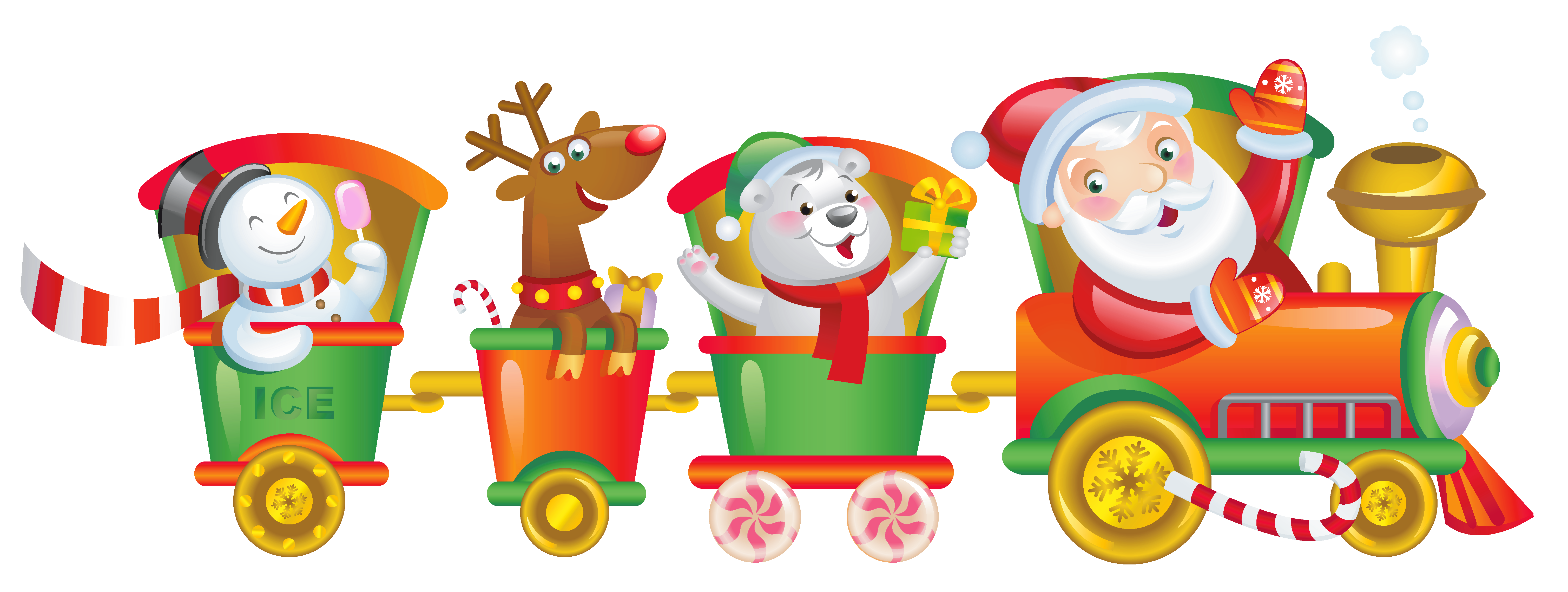 Christmas clipart for kids graphic black and white stock Transparent Christmas Santa Train PNG Clipart | Gallery ... graphic black and white stock