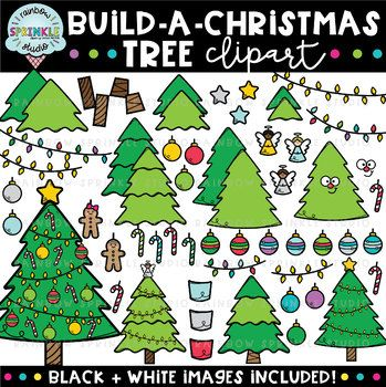 Christmas clipart for schools graphic black and white download Build-A-Christmas Tree {christmas clipart} | Winter Clipart for ... graphic black and white download