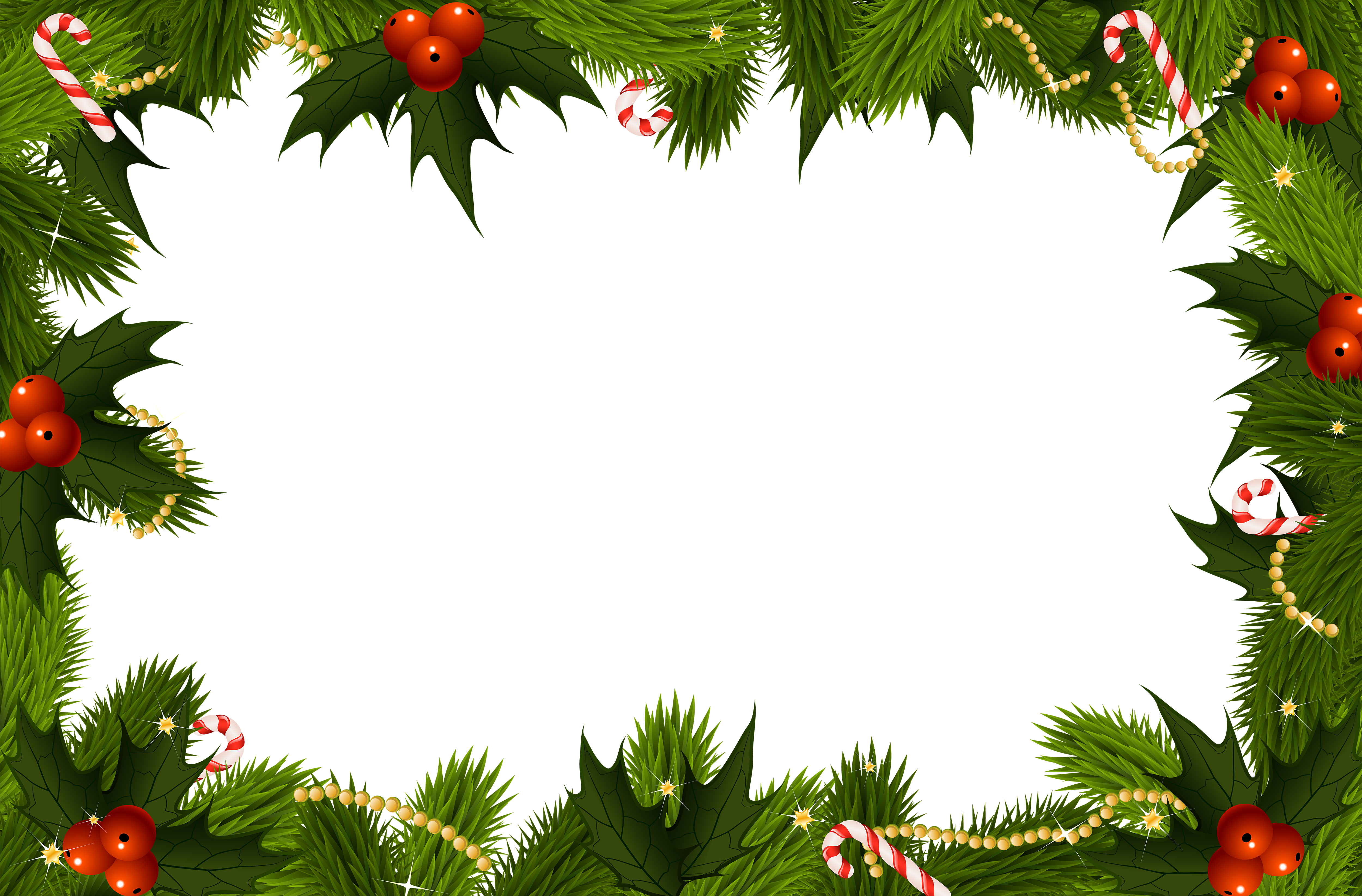 Christmas tree forest clipart svg library download Christmas Transparent PNG Border Frame | Gallery Yopriceville ... svg library download