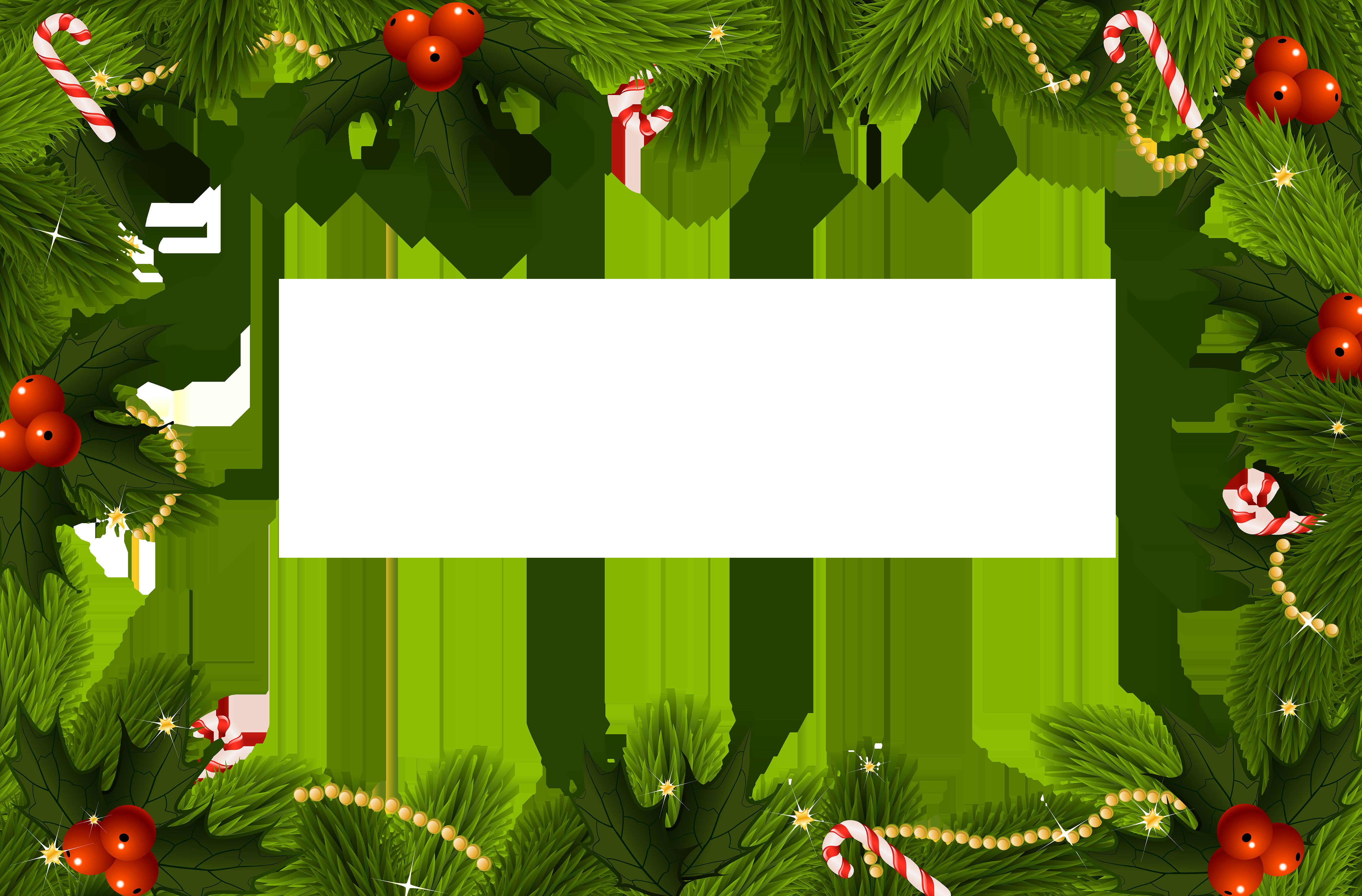 Christmas clipart frame clip art transparent Christmas Transparent PNG Border Frame | Gallery Yopriceville ... clip art transparent