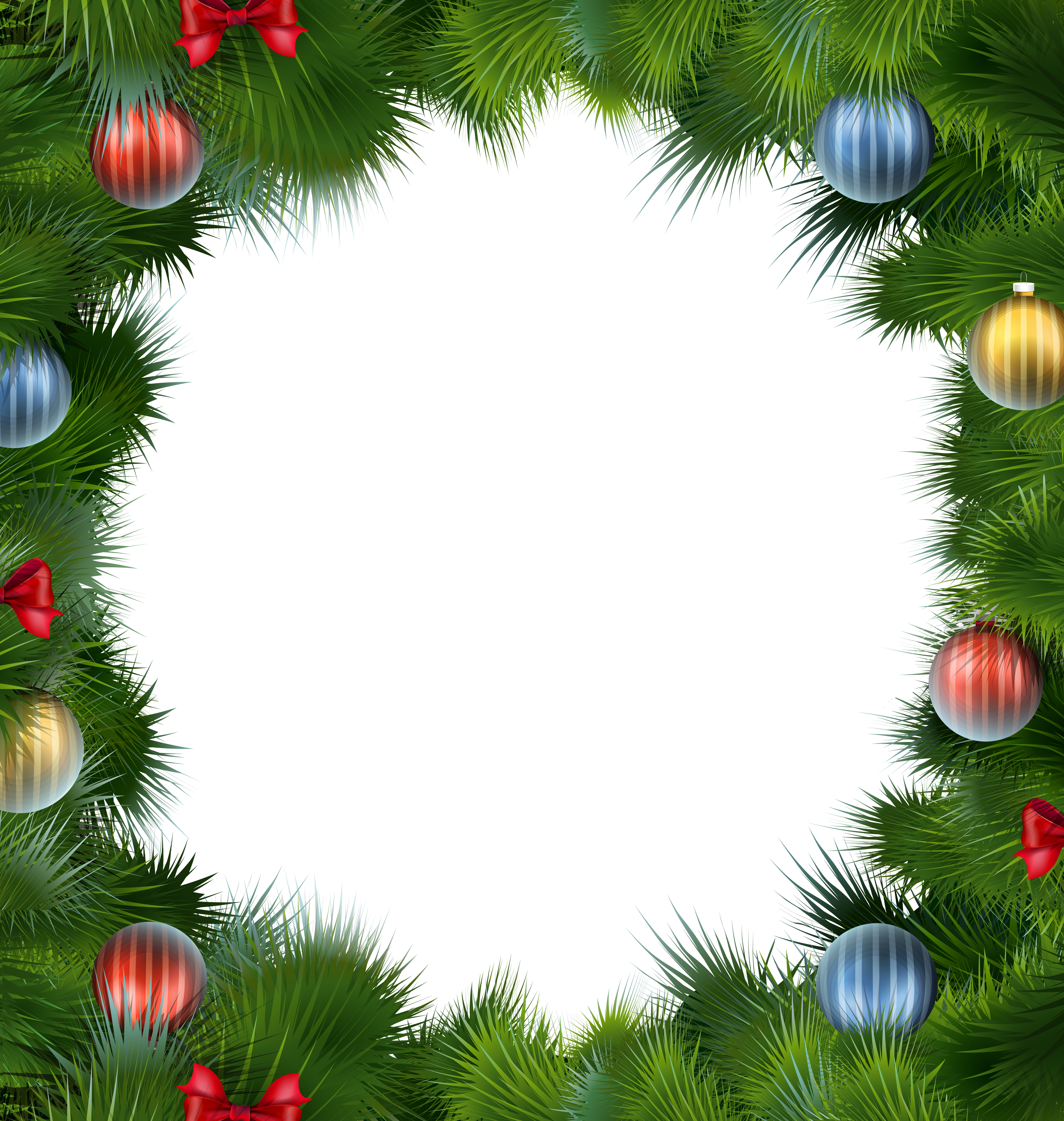 Christmas clipart frame clip freeuse library Christmas Deco Frame with Christmas Balls PNG Clipart | Gallery ... clip freeuse library