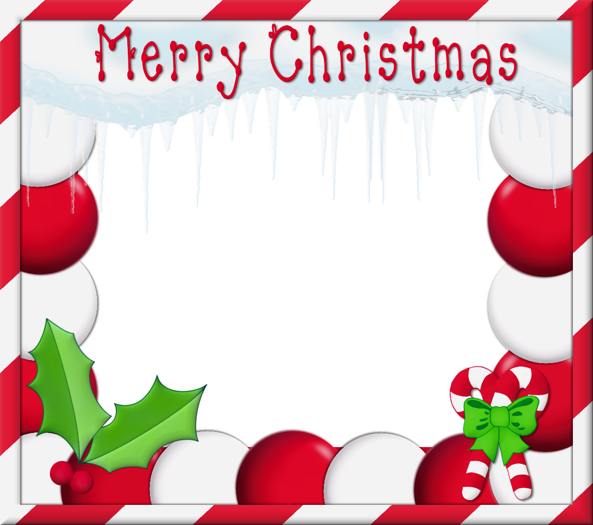 Christmas clipart frame image black and white stock Merry Christmas PNG Photo Frame | Gallery Yopriceville - High ... image black and white stock