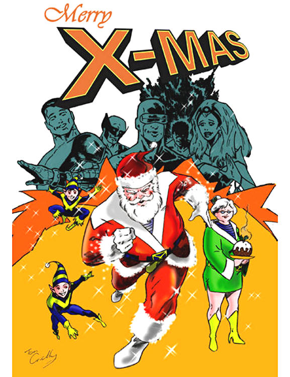 Christmas clipart funny marvel png freeuse 27 Marvel Super Hero Christmas Cards - Snappy Pixels png freeuse