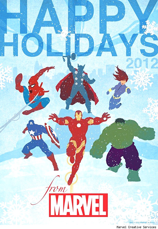 Christmas clipart funny marvel png transparent 27 Marvel Super Hero Christmas Cards - Snappy Pixels png transparent
