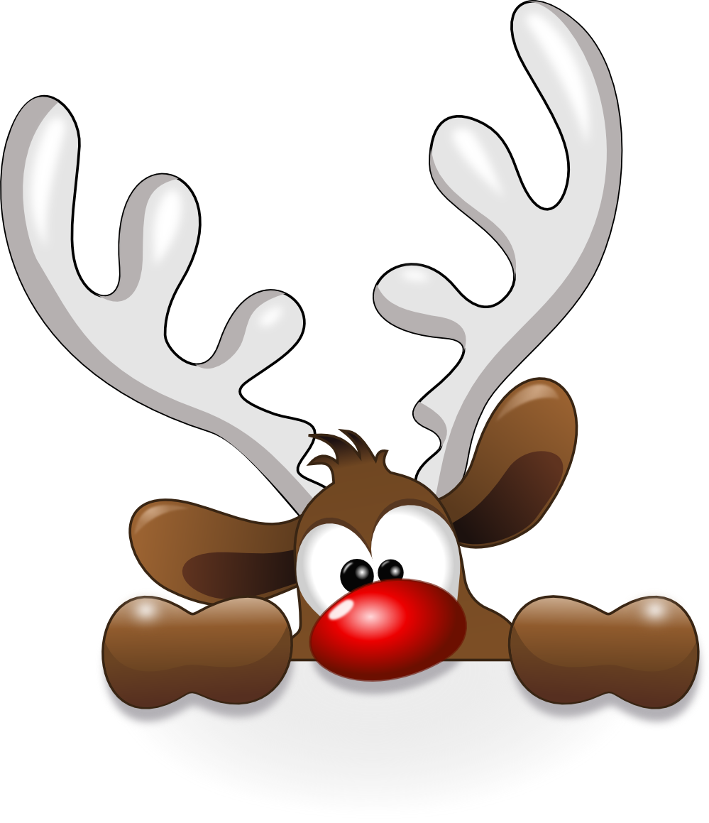 Christmas deer clipart vector freeuse download Funny Reindeer | Christmas/Winter Decor & Ideas | Pinterest | Clip ... vector freeuse download