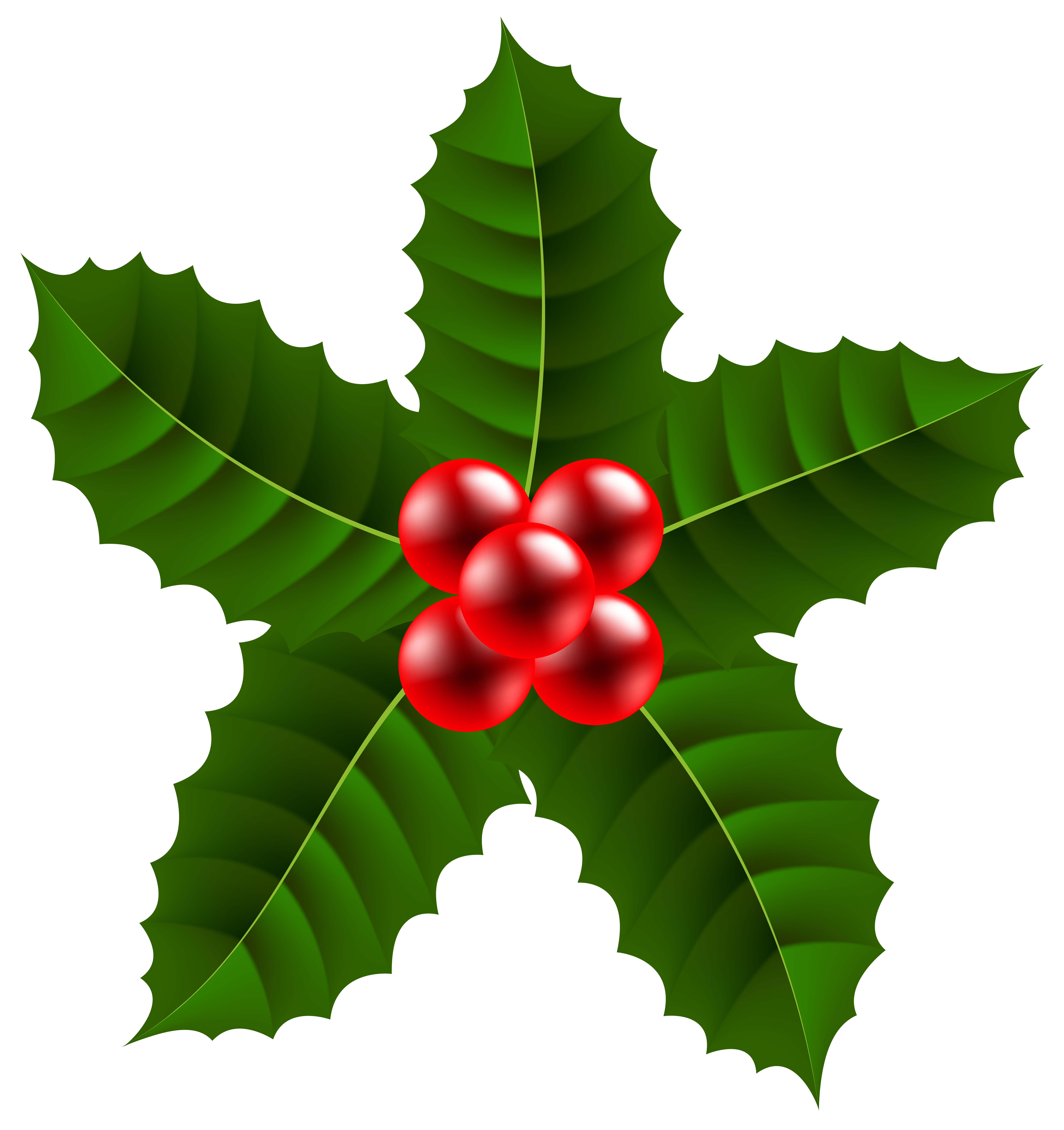 Christmas clipart holly graphic free download Large Christmas Holly PNG Clip Art Image | Gallery Yopriceville ... graphic free download