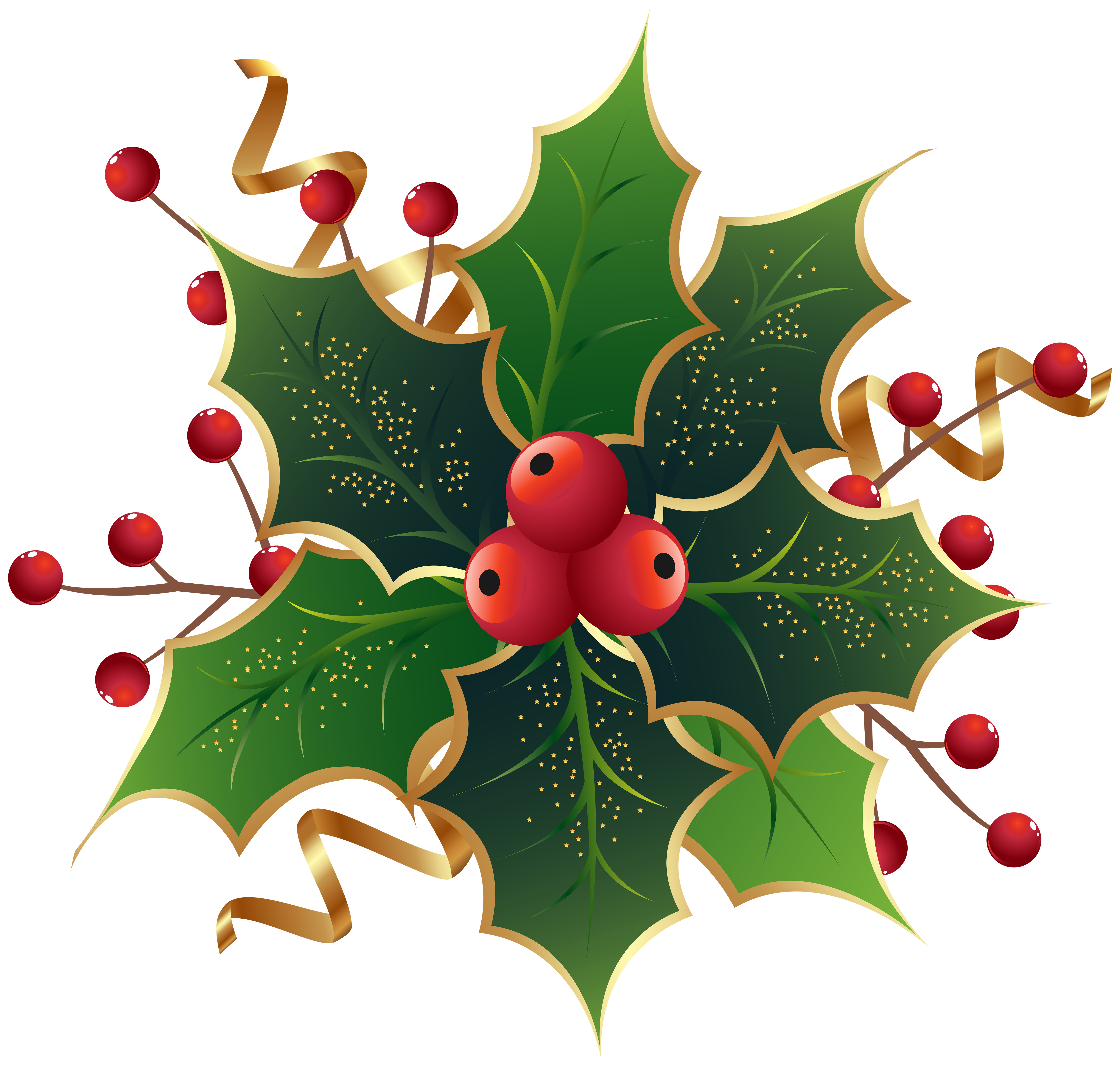 Christmas clipart holly clipart royalty free download Christmas Holly Mistletoe PNG Clip Art Image | Gallery Yopriceville ... clipart royalty free download