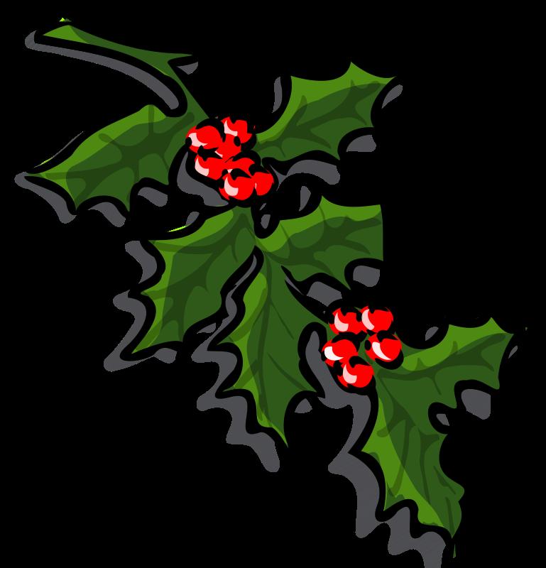 Christmas clipart holly vector transparent stock Free Christmas Clip Art Holly | Clipart Panda - Free Clipart Images vector transparent stock