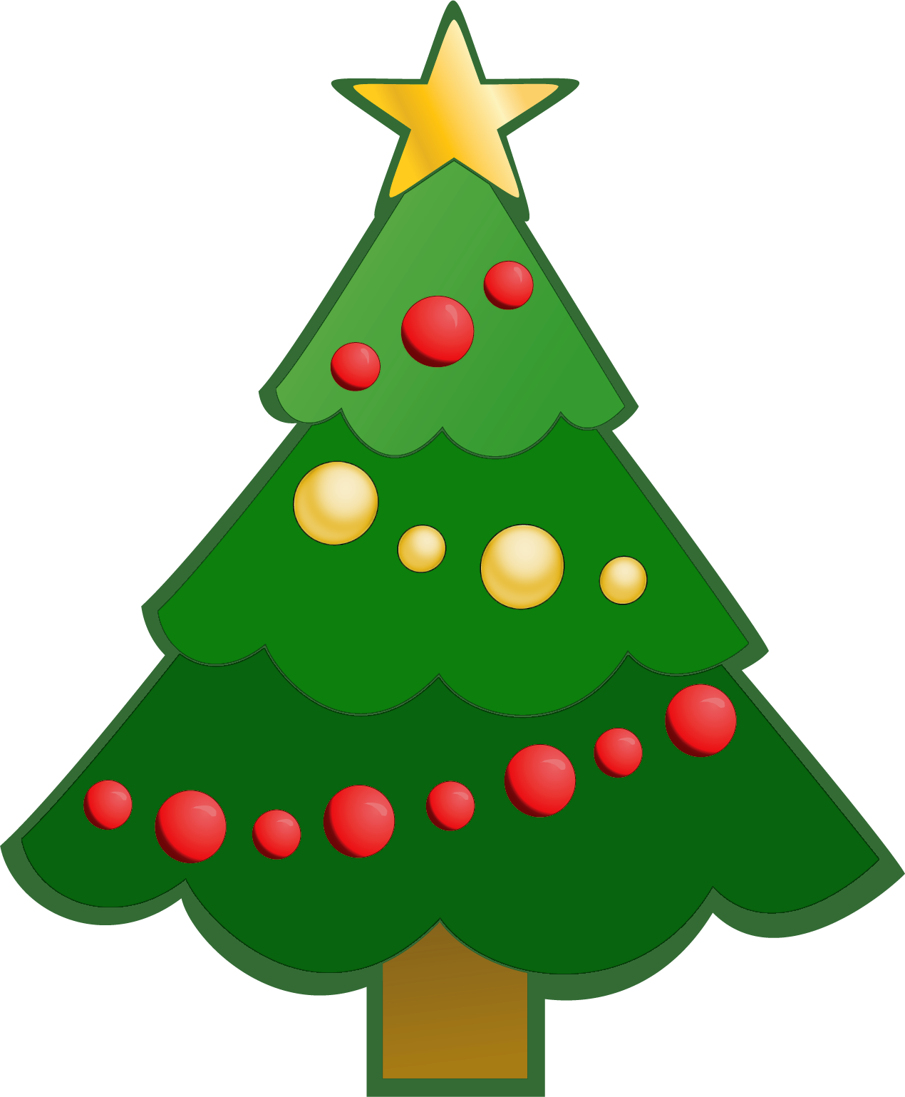 Christmas tree family clipart banner free Easy Christmas Clipart at GetDrawings.com | Free for personal use ... banner free