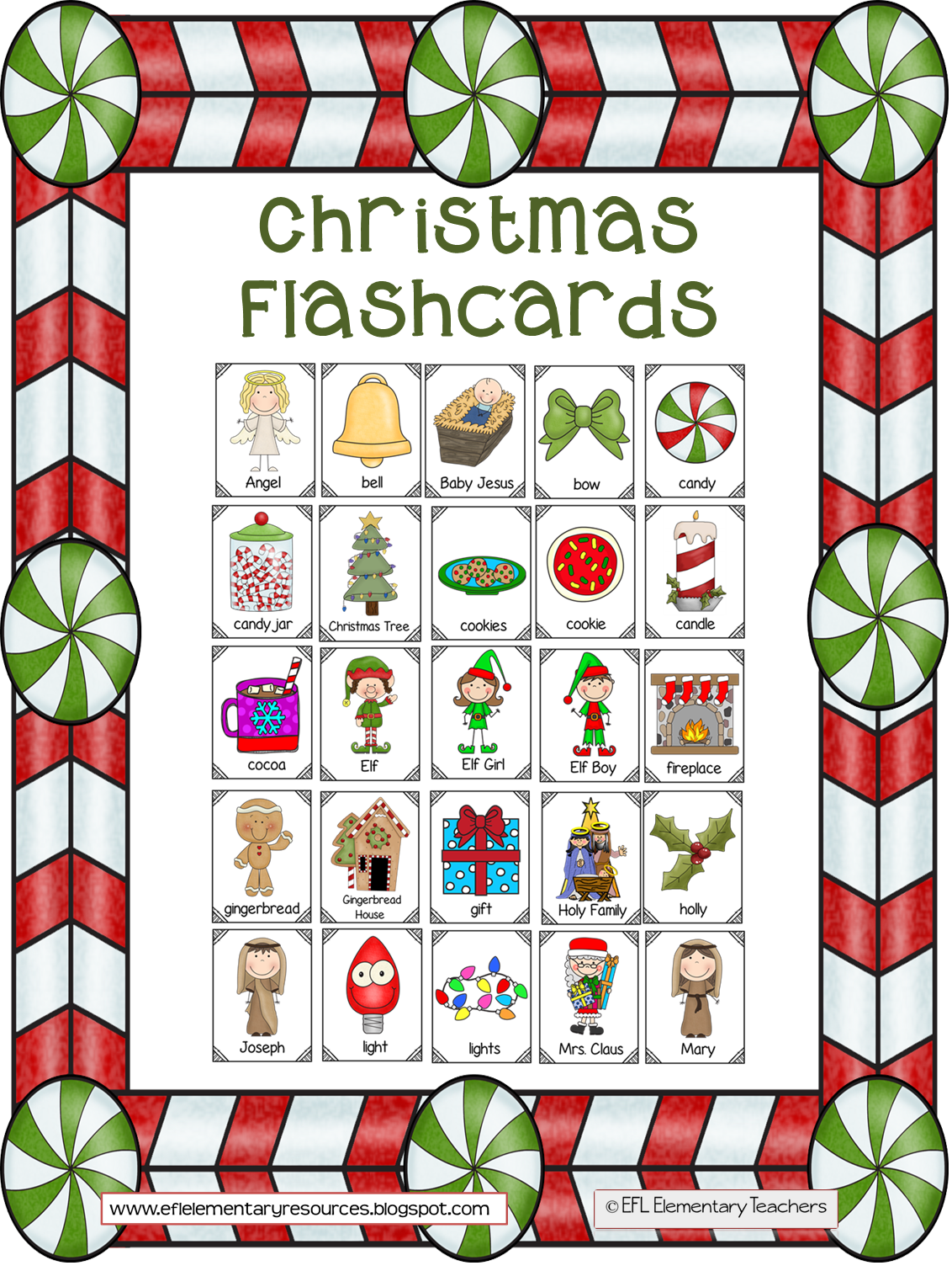 Christmas clipart letters graphic transparent download EFL Elementary Teachers: Christmas Flashcards graphic transparent download