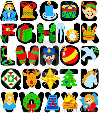 Christmas clipart letters picture freeuse download Christmas alphabet clipart letters - ClipartFest picture freeuse download