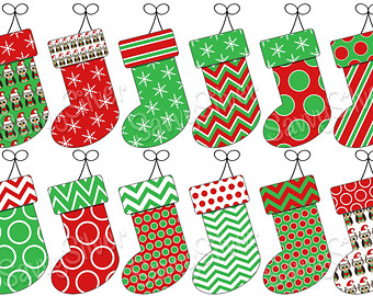 Stockings and numbers clipartfest. Christmas clipart letters
