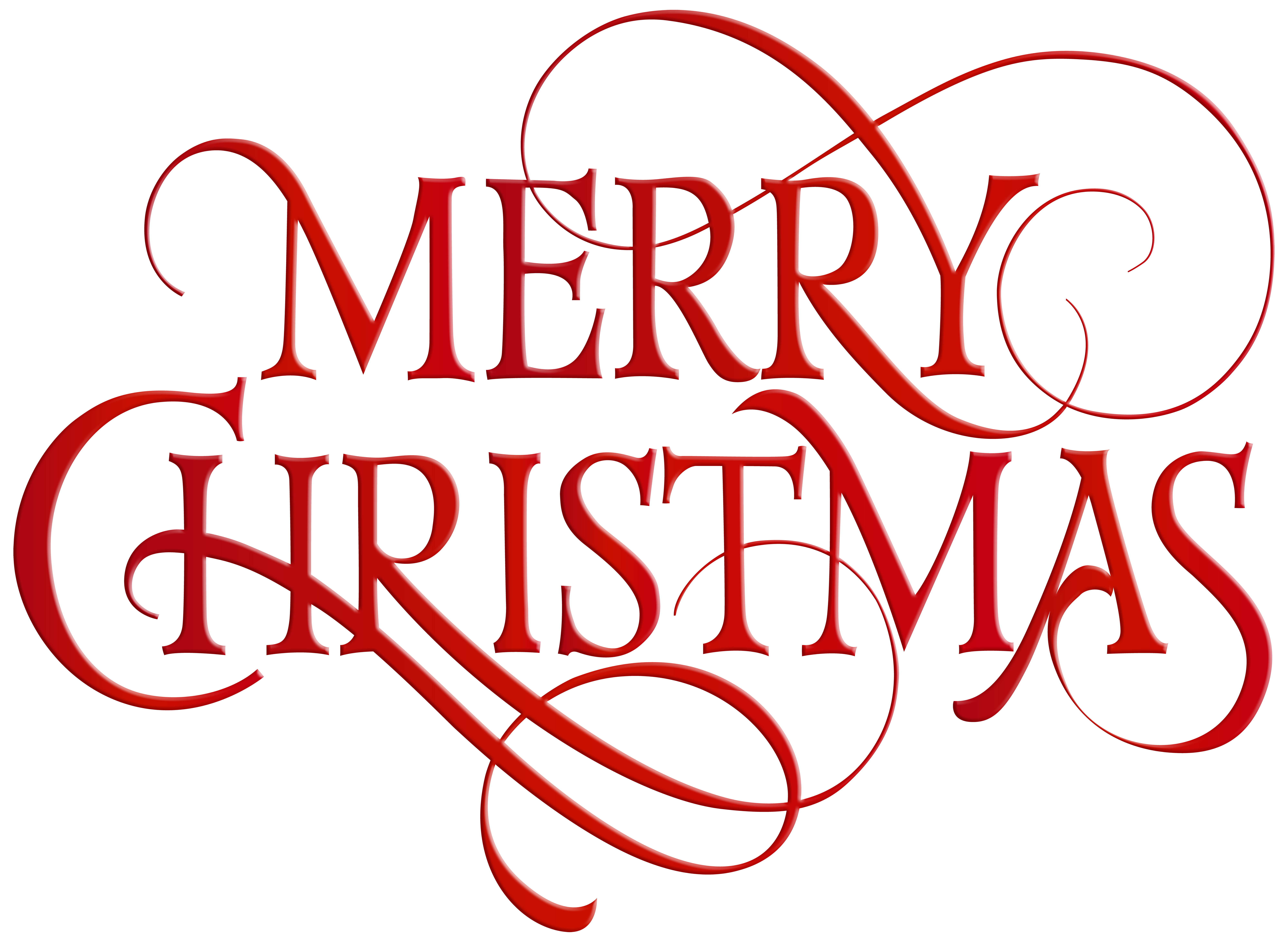 Cute merry christmas clipart clip library download Merry Christmas Red Transparent PNG Clip Art | Gallery Yopriceville ... clip library download