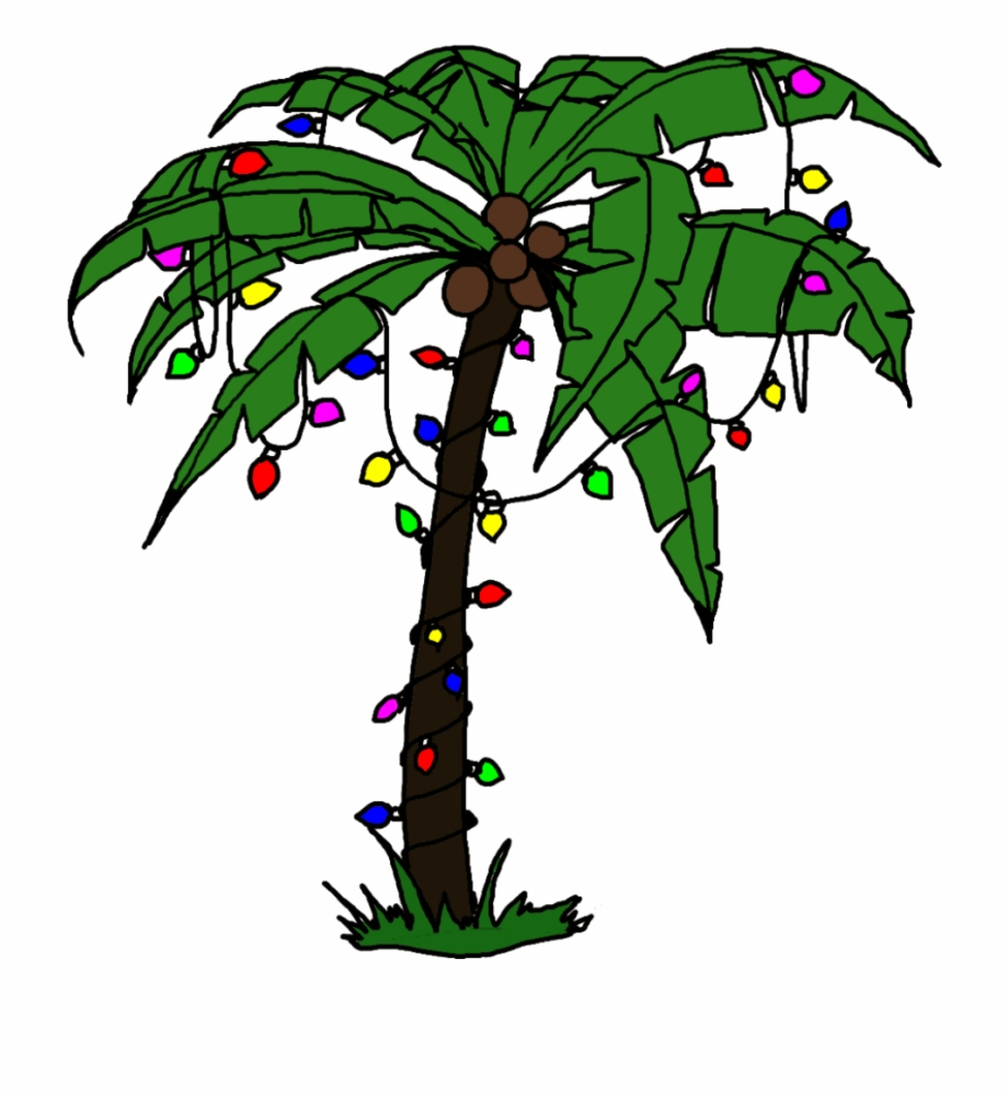Christmas palm tree clipart free svg library Palm Tree Christmas Clip Art - christmas light clipart png, Free PNG ... svg library