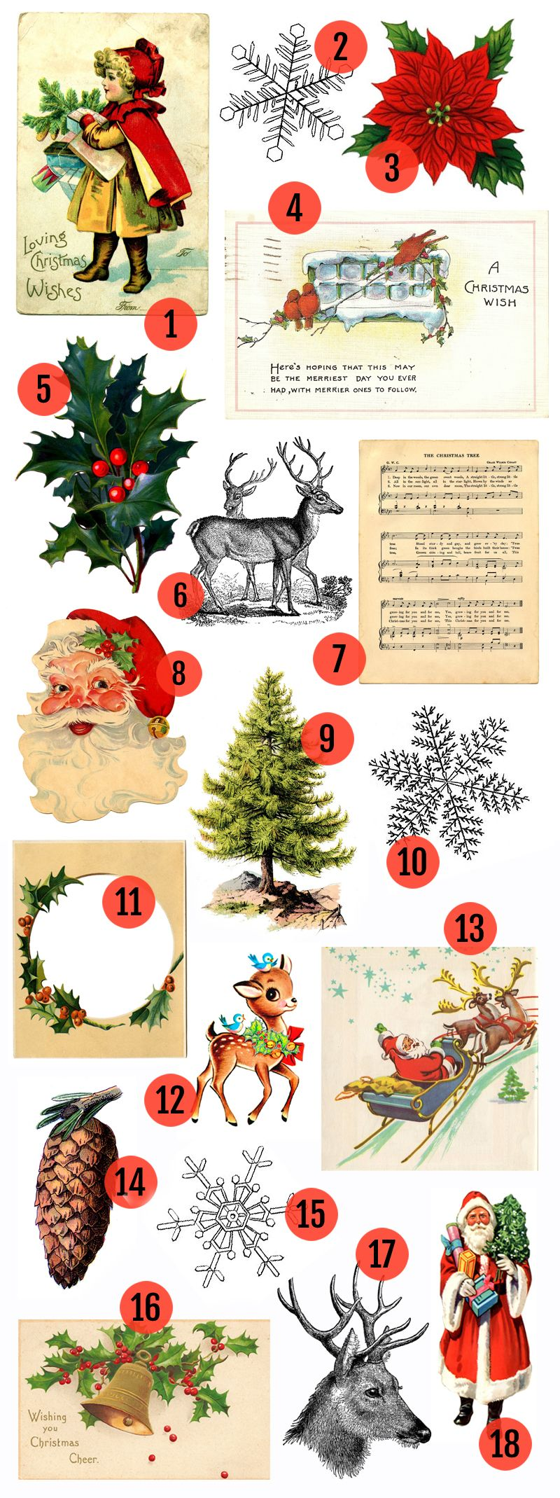 Woodsy christmas clipart vector download Free Christmas Printable & Vintage Christmas Clip Art   Christmas ... vector download