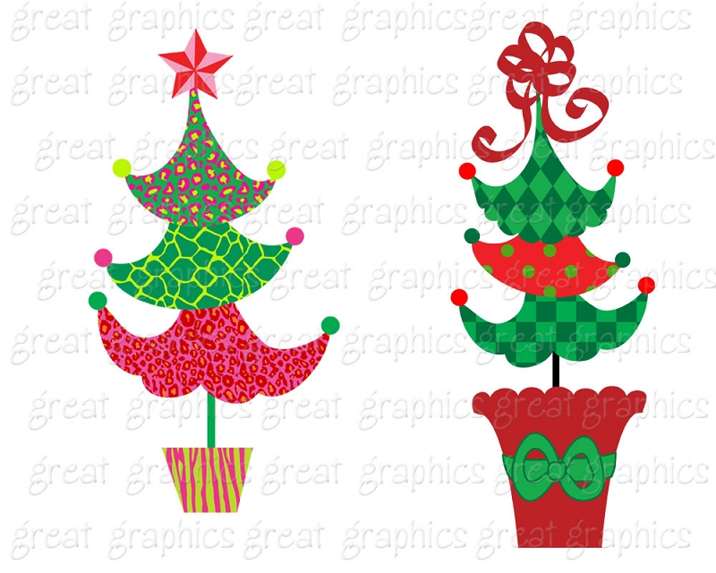 Tree christmas clipart dr suess svg freeuse download Free Printable Christmas Clipart | Free download best Free Printable ... svg freeuse download