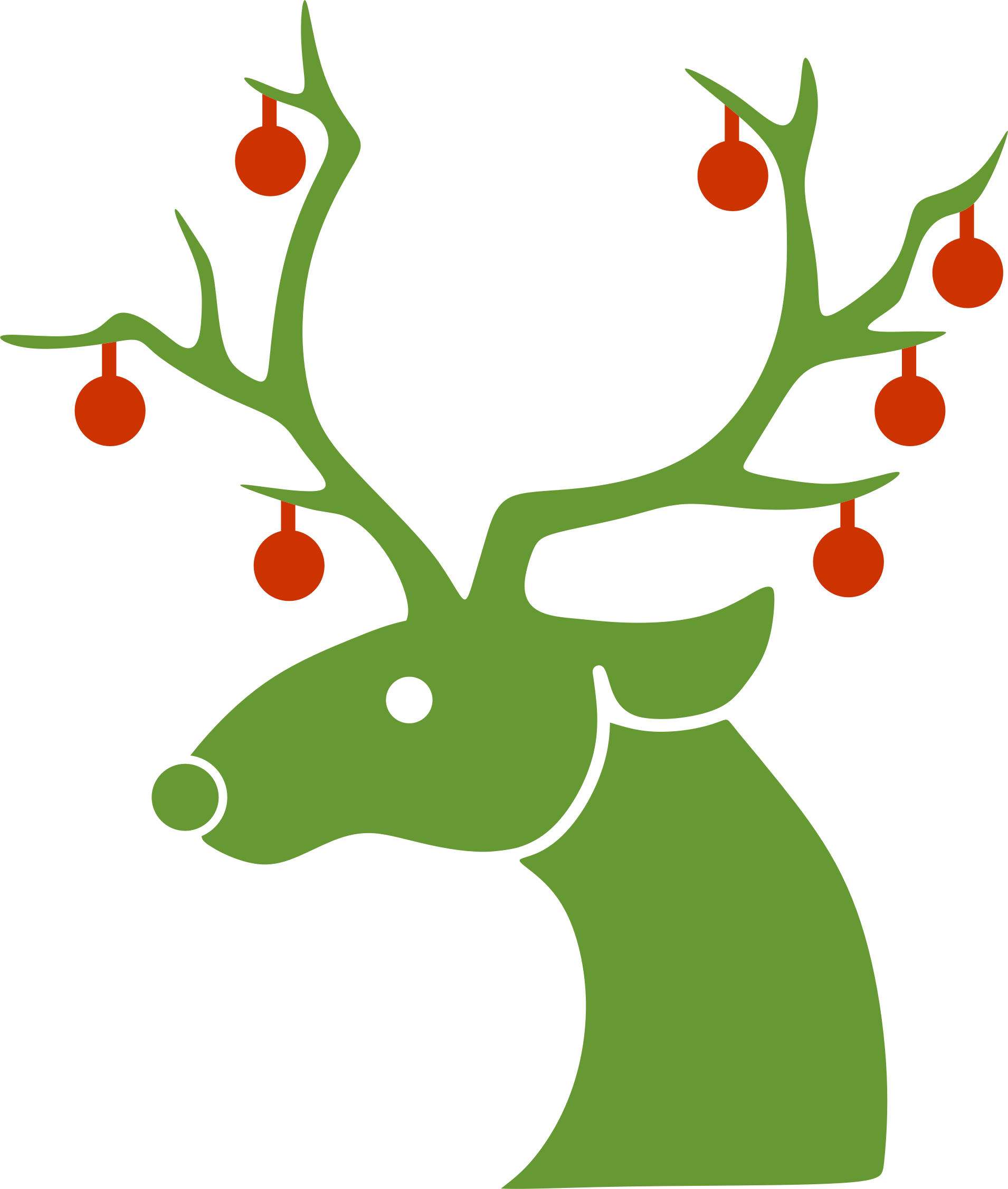 Christmas deer clipart banner black and white stock Clipart - Christmas Reindeer banner black and white stock