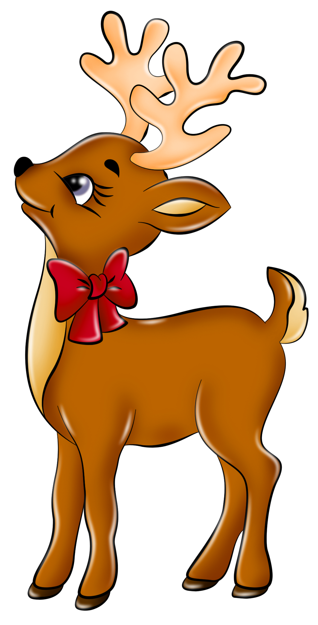 Christmas deer clipart vector library download Cute Reindeer Clip Art Clipart - Free Clipart | Holiday-Christmas ... vector library download