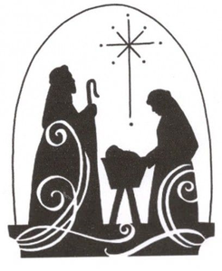 Free christmas clipart religious clip royalty free library Religious Christmas Clipart Black And White | Free Images at Clker ... clip royalty free library