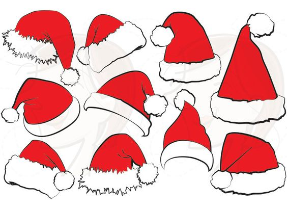 Christmas clipart row graphics jpg black and white stock 10 Santa Claus Hat Clip Art Christmas Santa Hat Clipart Xmas ... jpg black and white stock