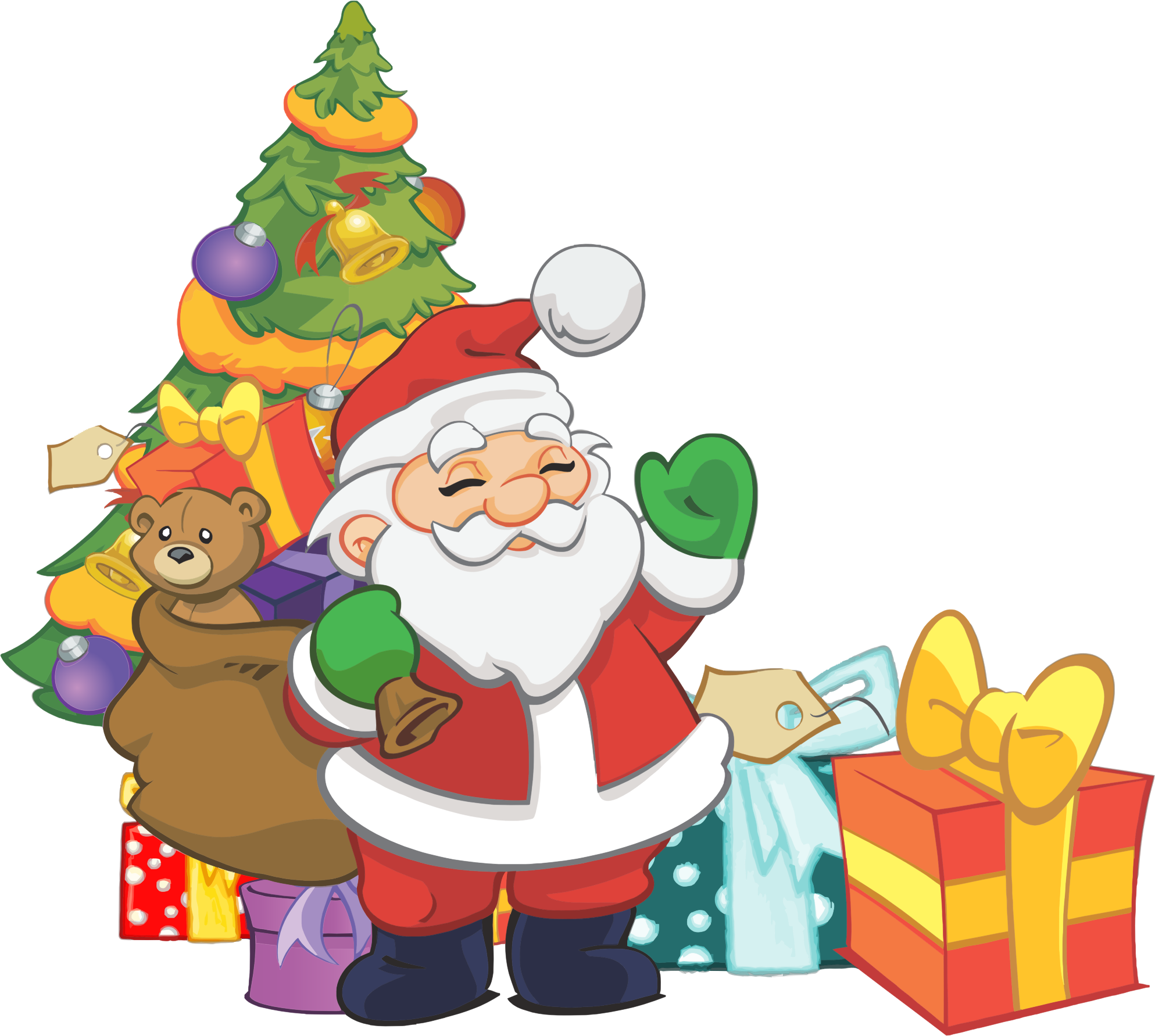 Clipart - Santa Christmas clipart free download