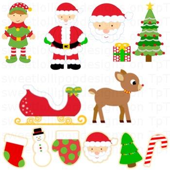 Christmas clipart santa sleigh clipart library download christmas clip art - christmas clipart - santa sleigh elf christmas tree  cookies clipart library download