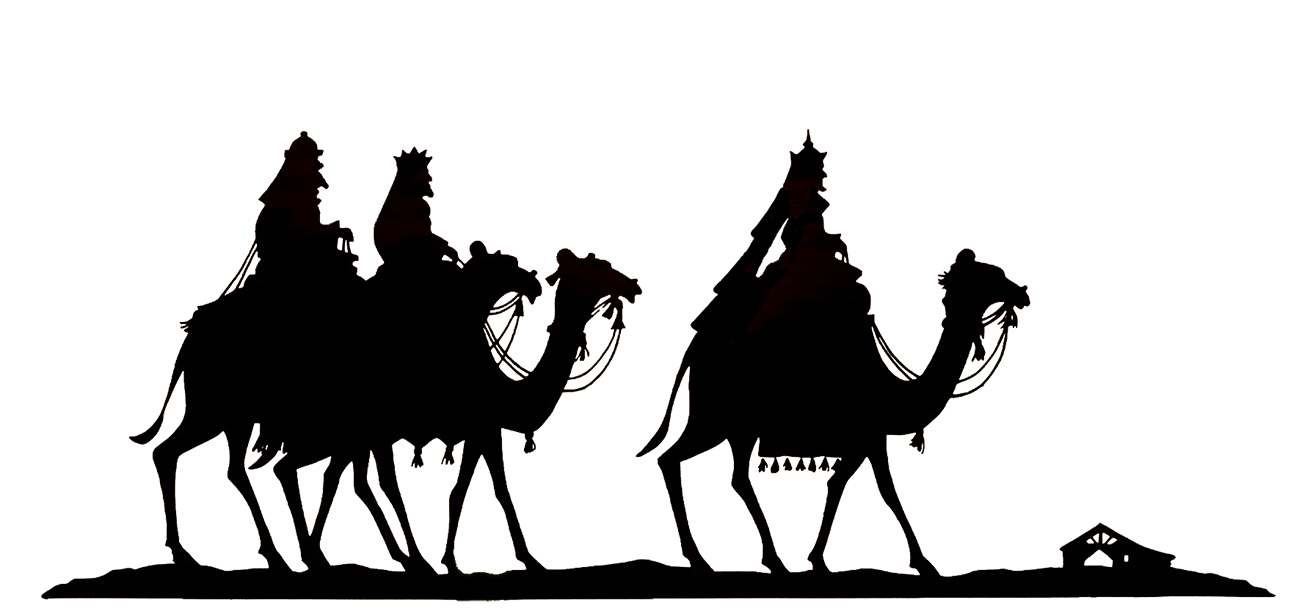 Christmas star wisemen clipart free picture free Christmas Silhouettes picture free