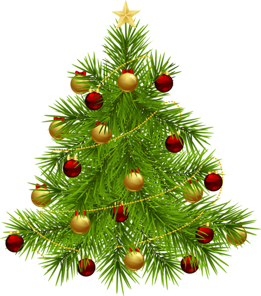 Clipart christmas tree with presents clip art royalty free library Transparent PNG Christmas Tree with Ornaments | 3D CHRISTMAS PNG ... clip art royalty free library