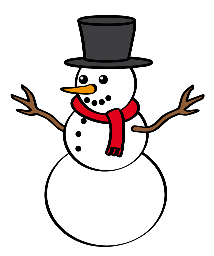 Christmas snowmen clipart jpg black and white library Christmas snowman clipart - Clipartix jpg black and white library