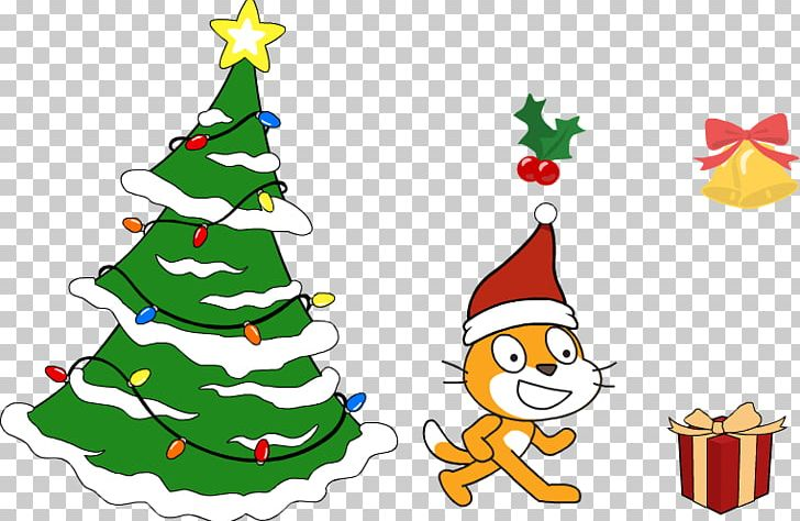 Christmas clipart software banner transparent library Christmas Tree Scratch Computer Software CoderDojo Makey Makey PNG ... banner transparent library