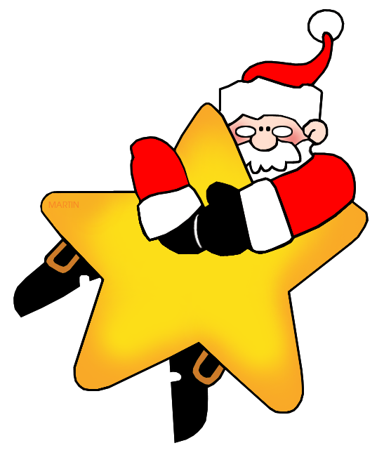 Christmas star clipart graphics clipart royalty free library Christmas Clip Art by Phillip Martin, Santa on a Star clipart royalty free library
