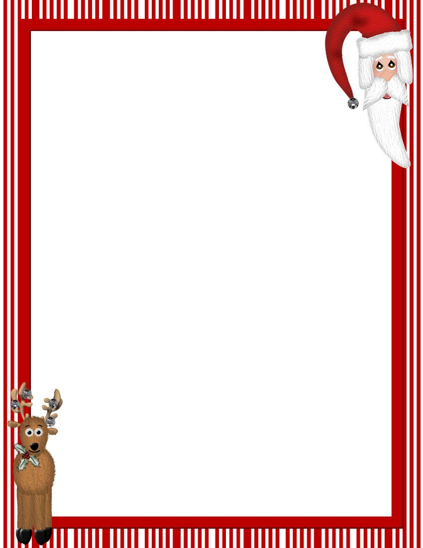 Christmas clipart templates free png royalty free download Free Printable Christmas Stationary Borders | ChristmasStationery ... png royalty free download