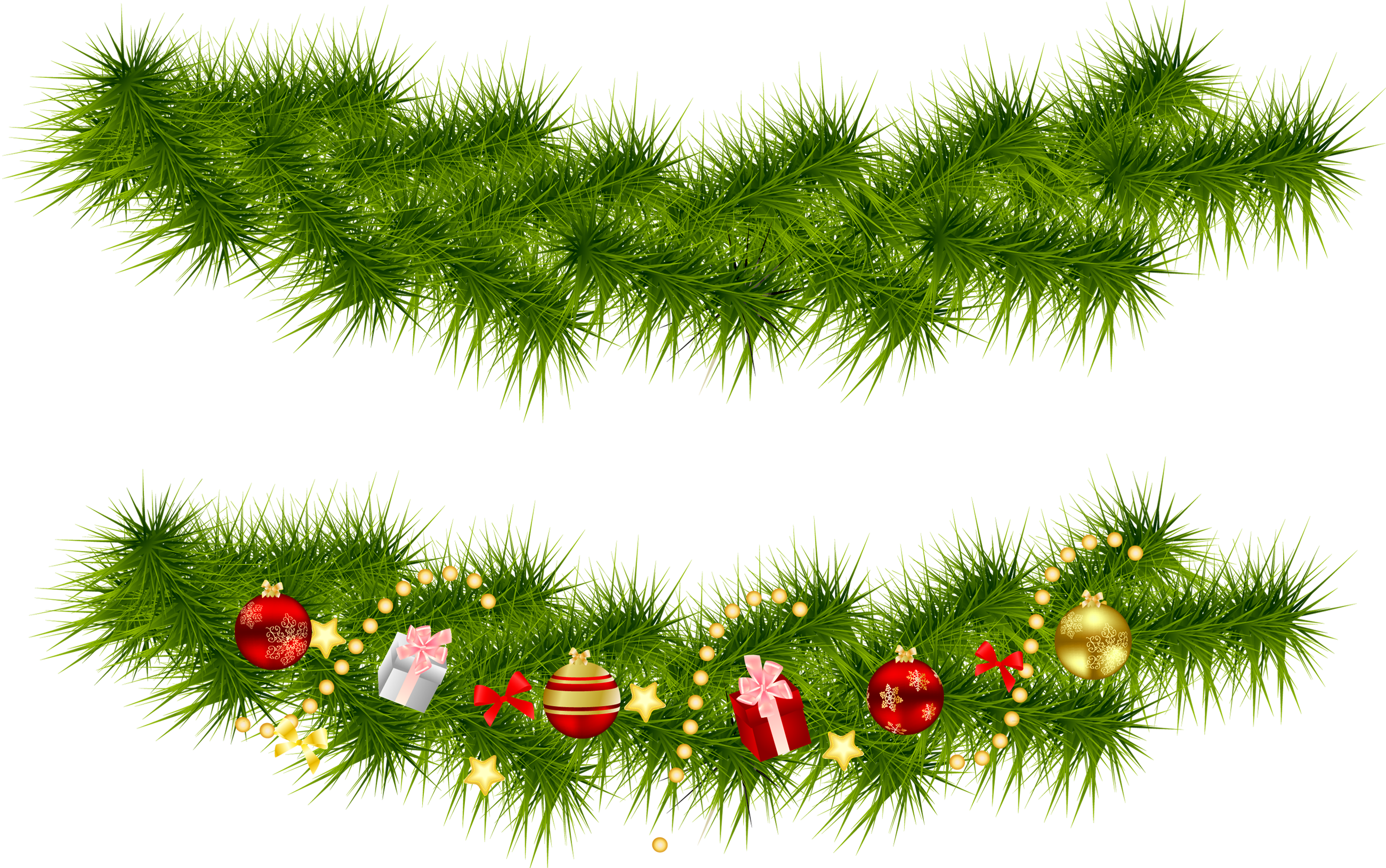 Pine tree border clipart picture freeuse library Transparent Christmas Pine Garlands | Gallery Yopriceville - High ... picture freeuse library