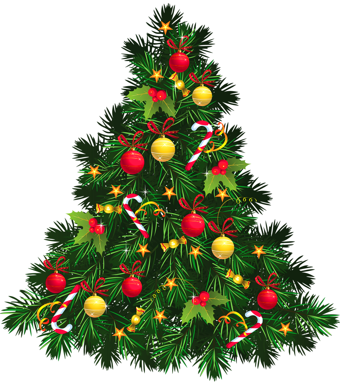 Christmas clipart transparent png free download Transparent Christmas Tree with Ornaments PNG Picture free download