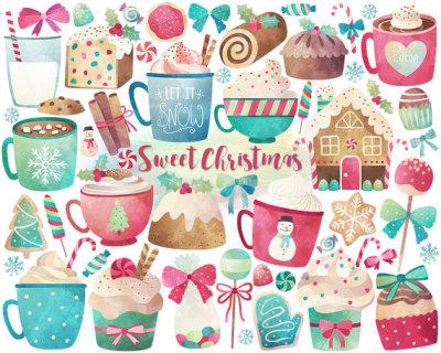 Christmas clipart tumblr clip freeuse stock watercolor clip art | Tumblr clip freeuse stock