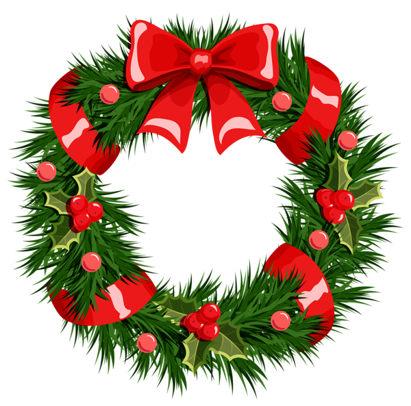 Clipart of christmas png freeuse stock vector christmas wreath png Google Search ~ Wreaths - Clip Art Library png freeuse stock