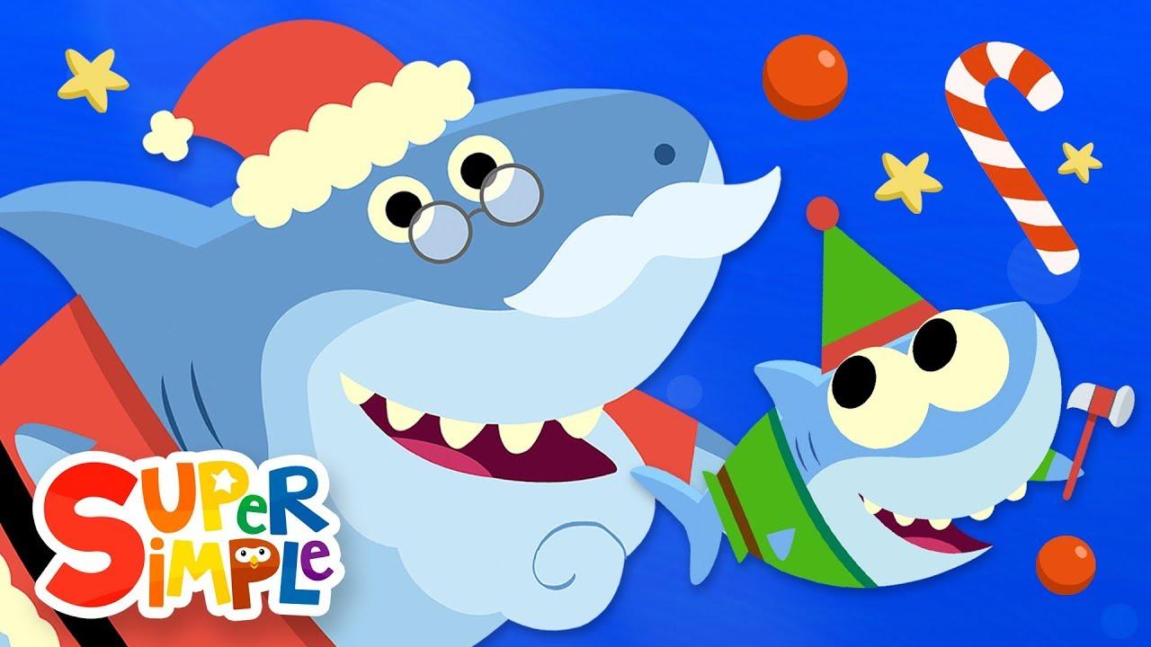 Christmas clipart videos clipart freeuse Santa Shark | Baby Shark Christmas Song | Super Simple Songs clipart freeuse