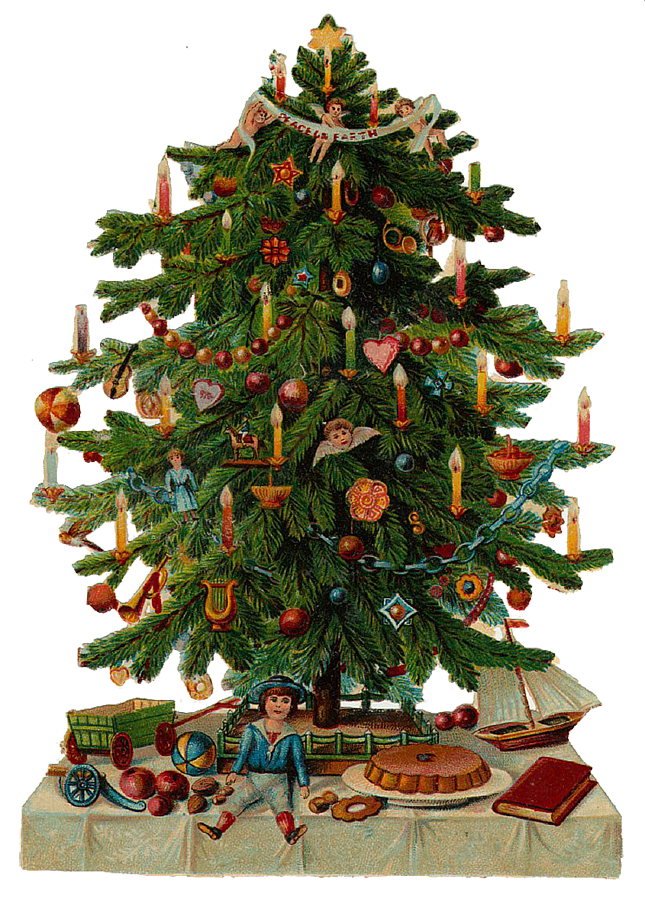 Vintage tree clipart jpg library library Vintage Christmas Tree Clip Art – Fun for Christmas jpg library library