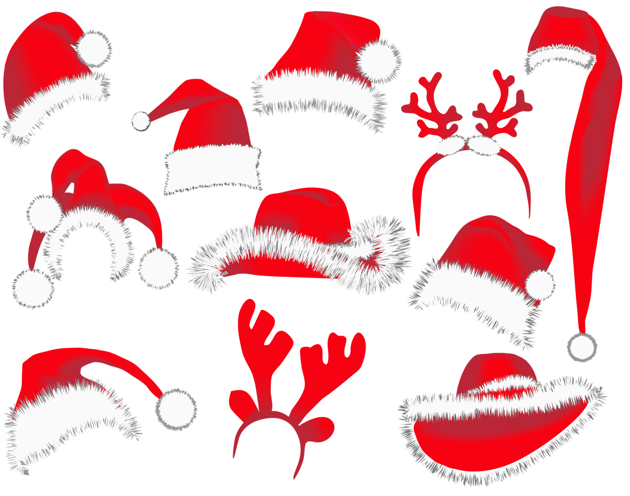 Christmas wallpaper clipart jpg Christmas Hats PNG Clipart Picture | Gallery Yopriceville - High ... jpg
