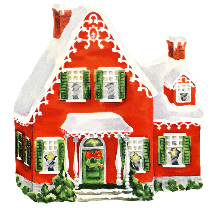 Christmas houses clipart svg stock Christmas Clip Art svg stock